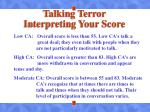 talking terror interpreting your score