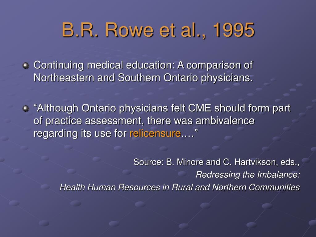 B.R. Rowe et al., 1995