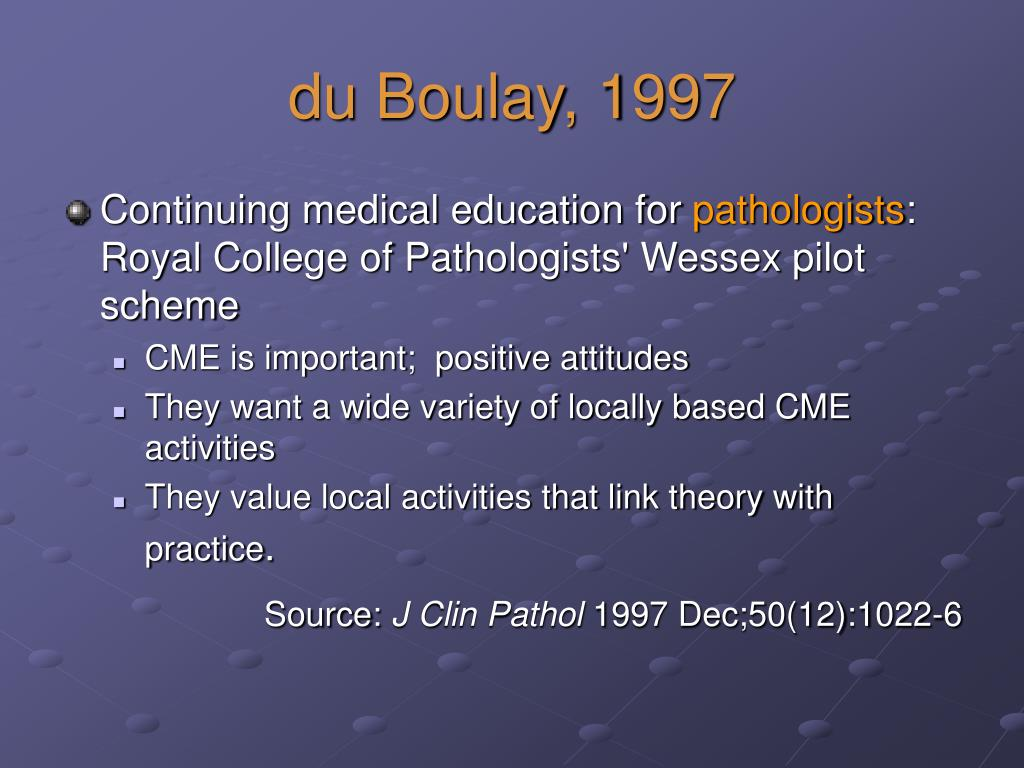 du Boulay, 1997