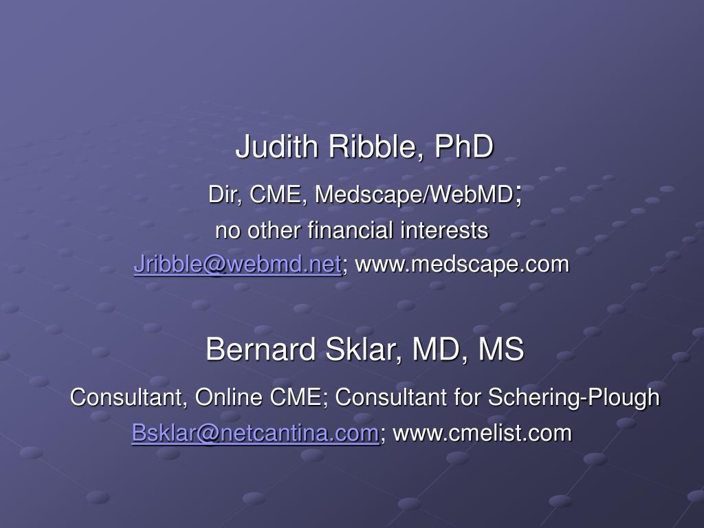 Judith Ribble, PhD