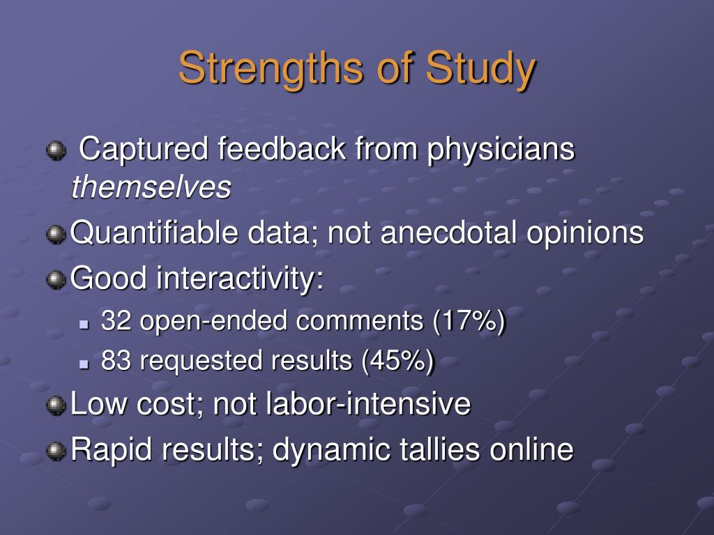 Strengths of Study