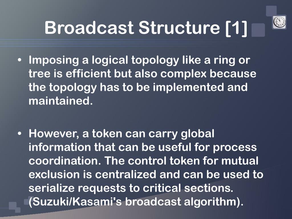 Broadcast Structure [1]