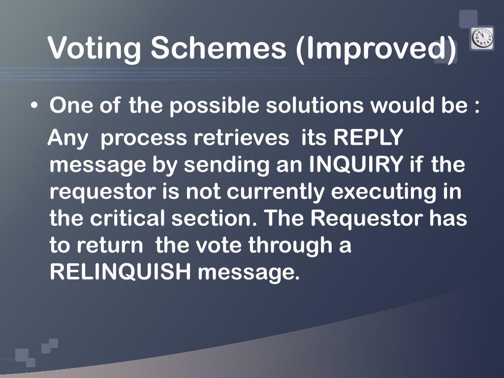 Voting Schemes (Improved)
