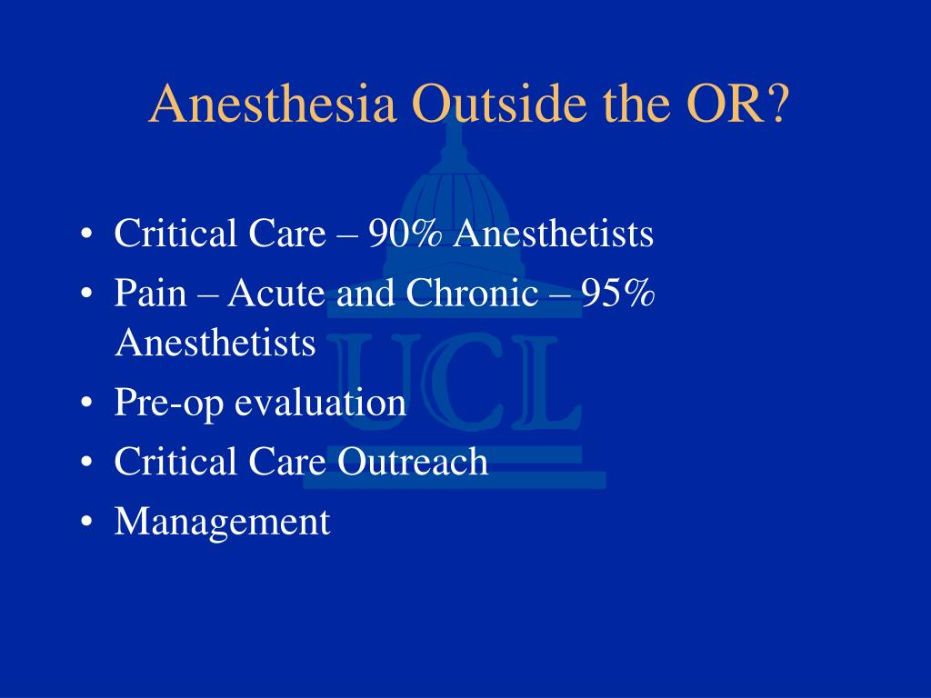 Critical Care – 90% Anesthetists