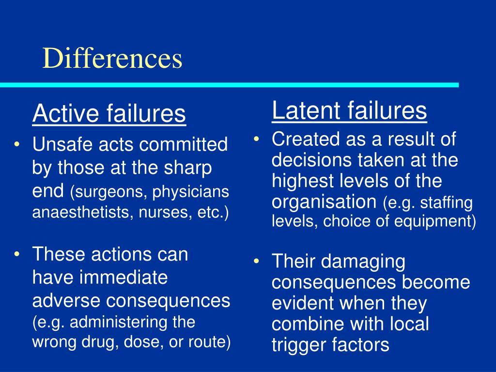 Active failures