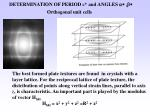 determination of period c and angles