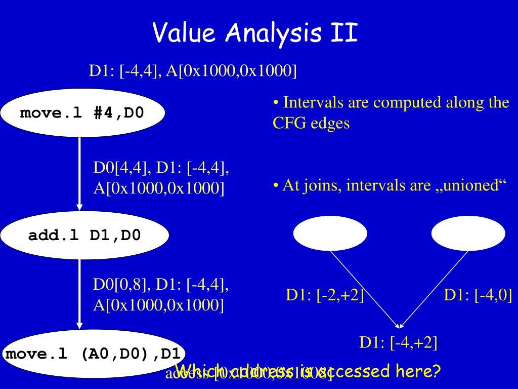 Value Analysis II