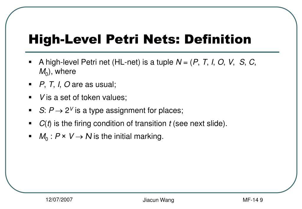 High-Level Petri Nets: Definition