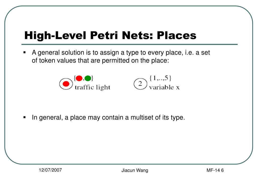 High-Level Petri Nets: Places