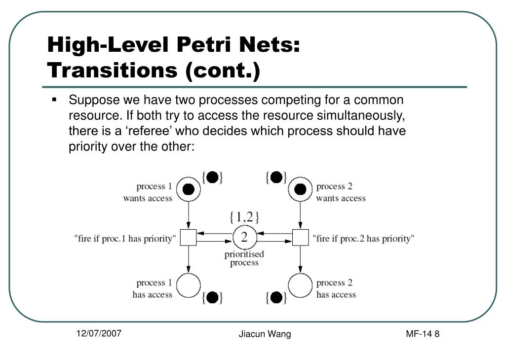 High-Level Petri Nets: Transitions (cont.)