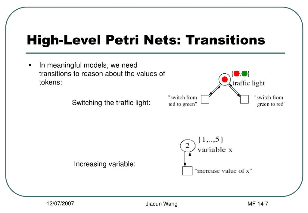 High-Level Petri Nets: Transitions