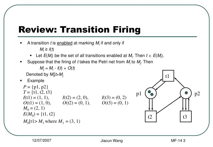 Review transition firing