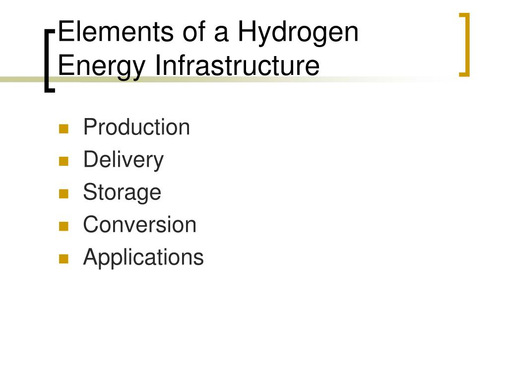 Elements of a Hydrogen Energy Infrastructure
