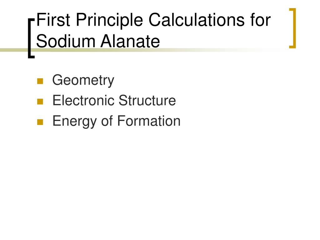 First Principle Calculations for