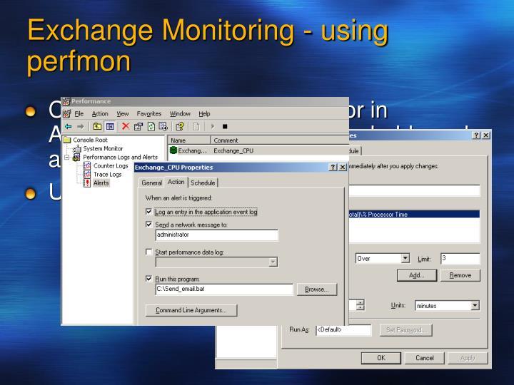 Exchange Monitoring - using perfmon