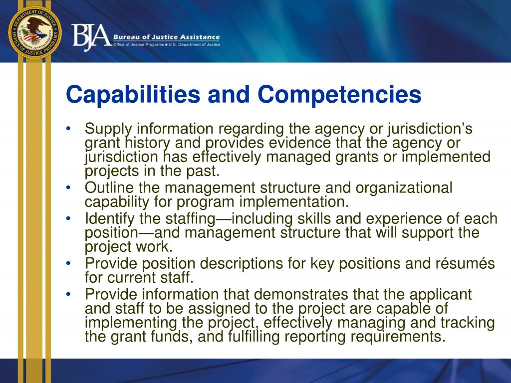 Capabilities and Competencies