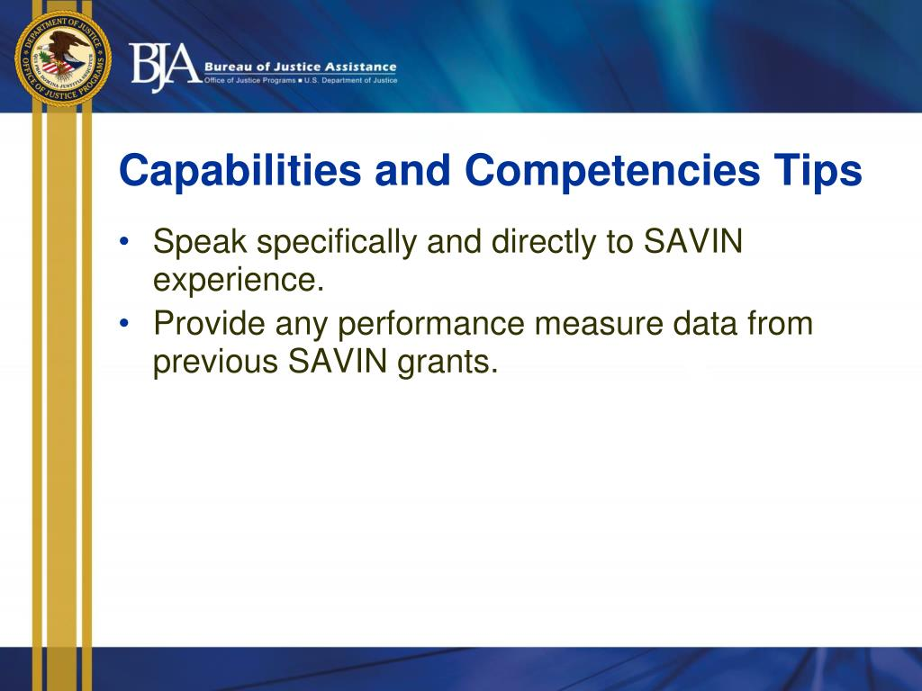 Capabilities and Competencies Tips