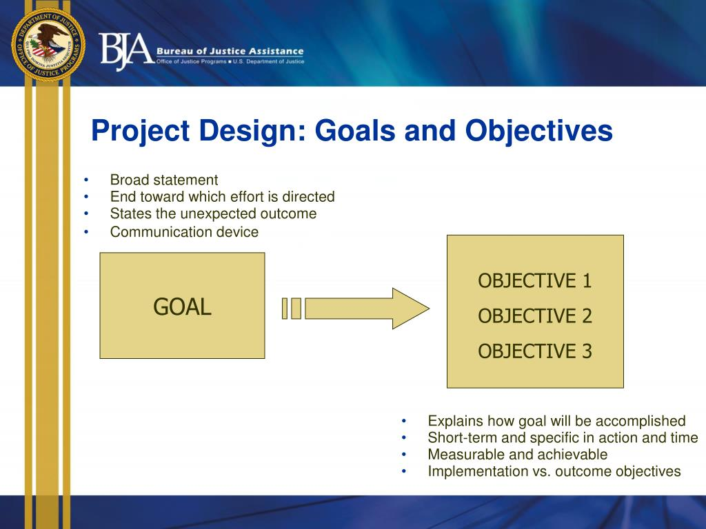 Project Design: Goals and Objectives