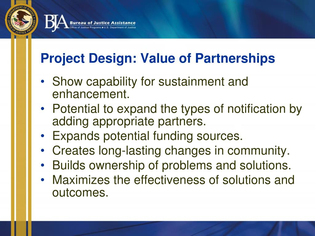 Project Design: Value of Partnerships