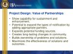 project design value of partnerships