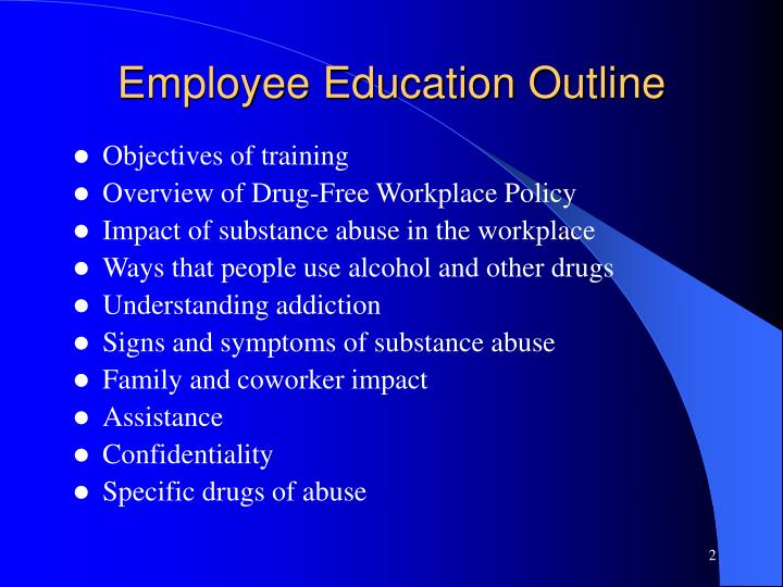 Employee Education Outline