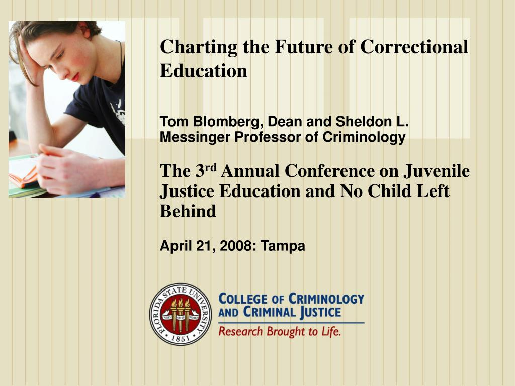 charting the future of correctional education