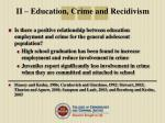 ii education crime and recidivism