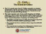 v cont the costs of crime