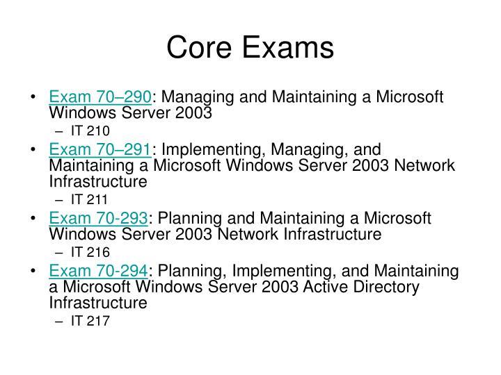 Core Exams