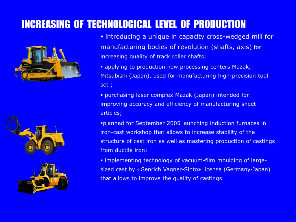 INCREASING  OF  TECHNOLOGICAL  LEVEL  OF  PRODUCTION