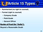 article 15 types