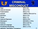 criminal misconduct