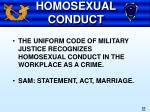 homosexual conduct