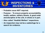 inspections inventories