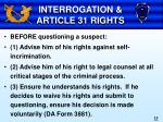 interrogation article 31 rights