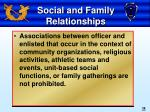 social and family relationships