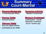 summary court martial