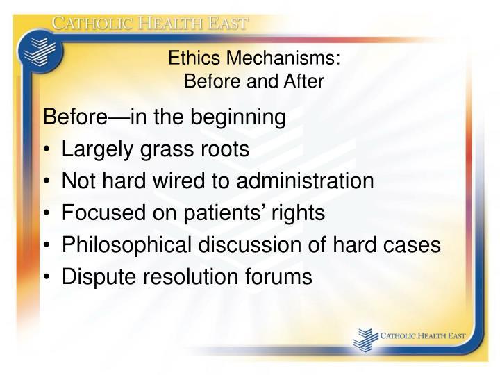 Ethics Mechanisms: