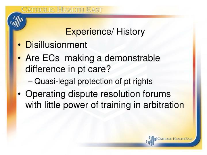 Experience/ History