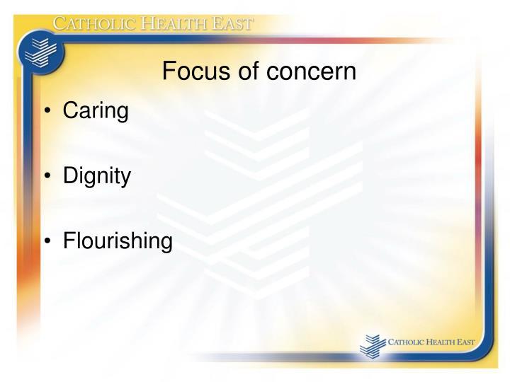 Focus of concern