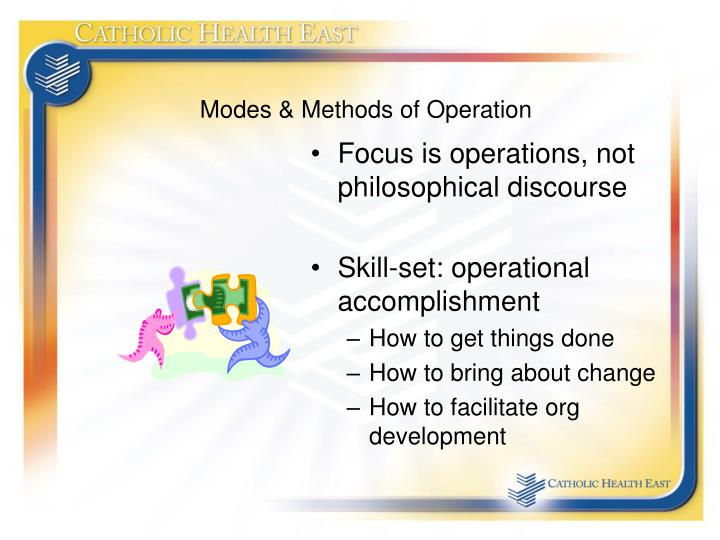 Modes & Methods of Operation