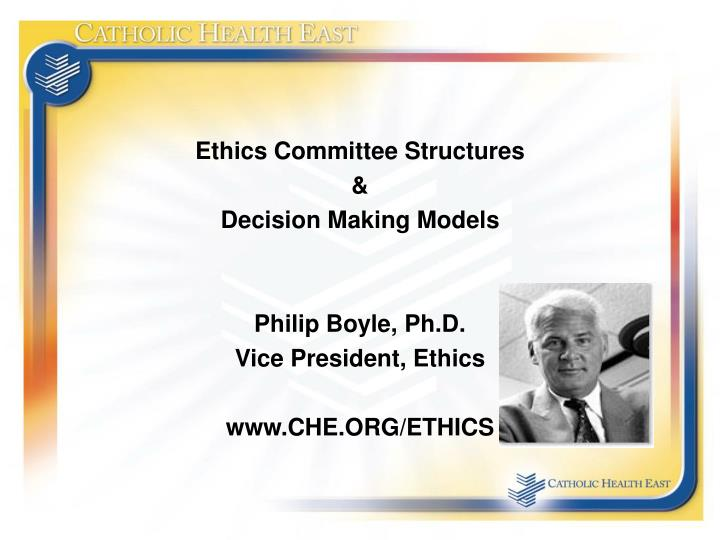 Ethics Committee Structures