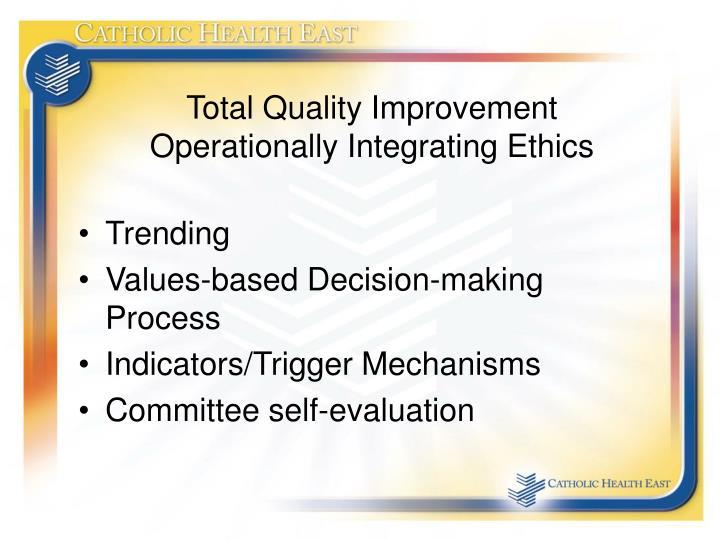 Total Quality Improvement