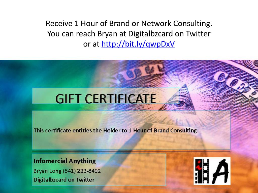 Receive 1 Hour of Brand or Network