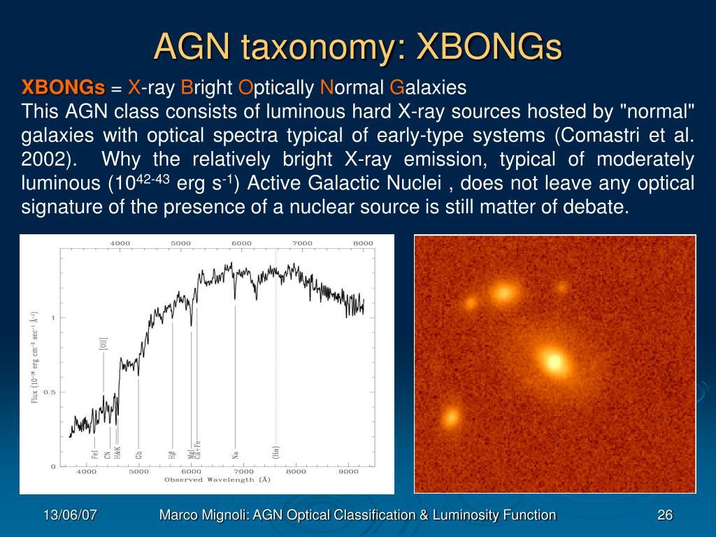 AGN taxonomy: XBONGs