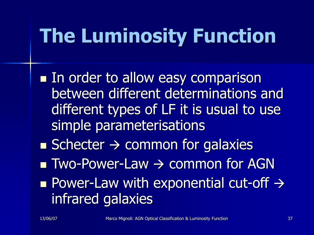 The Luminosity Function