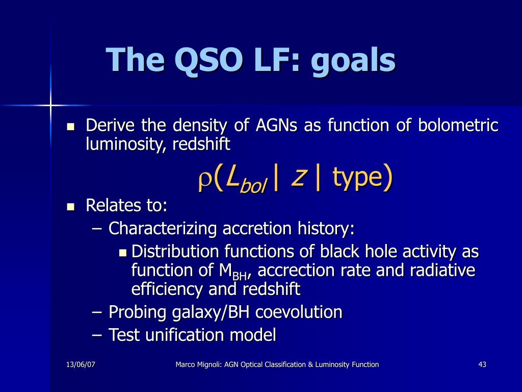 The QSO LF: goals
