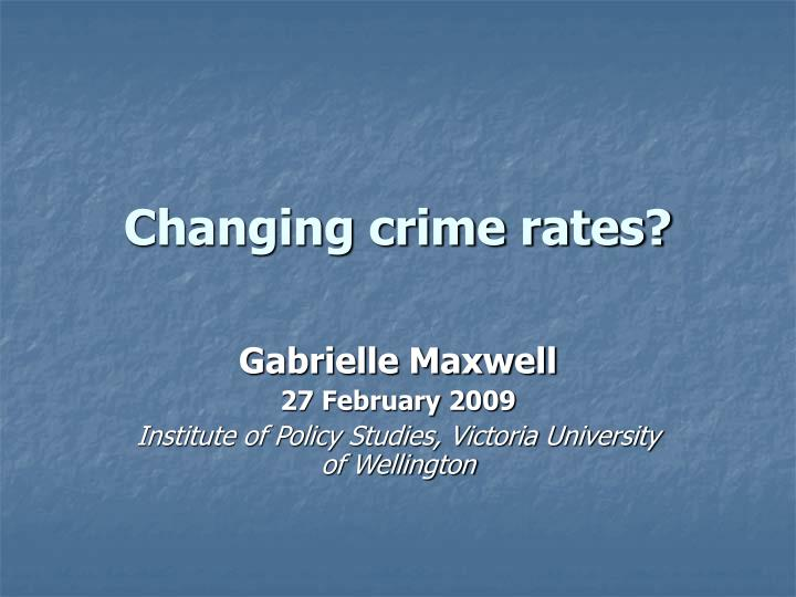 changing crime rates
