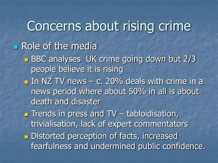 Concerns about rising crime