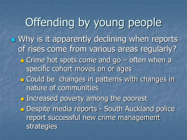 Offending by young people